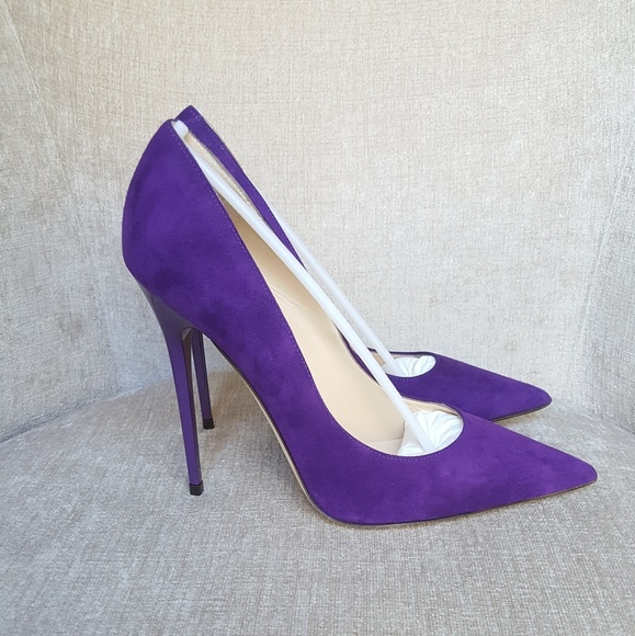 70262bb192c NIB Jimmy Choo Purple Suede Iris Anouk Pumps